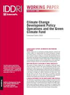 Climate Change Development Policy Operations and the Green Climate Fund