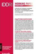 L'utilisation de l'évaluation économique des services écosystémiques pour la décision : le cas des banques publiques de développement