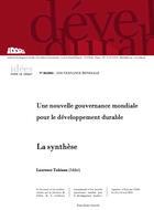 Une nouvelle gouvernance mondiale pour le développement durable : synthèse