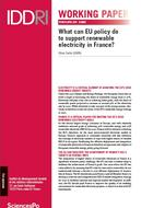 Que peut faire l'UE pour soutenir l'électricité renouvelable en France?