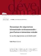 Dynamique des négociations internationales sur l'environnement
