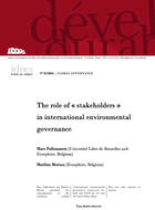 """Le rôle des """"parties prenantes"""" dans la gouvernance internationale de l'environnement"""