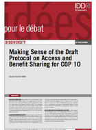 Making Sense of the Draft Protocol on Access and Benefit Sharing for COP 10