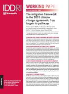 The mitigation framework in the 2015 climate change agreement: from targets to pathways