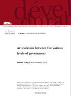 Articulation between the various levels of government