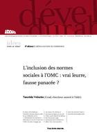 L'inclusion des normes sociales à l'OMC : vrai leurre, fausse panacée ?