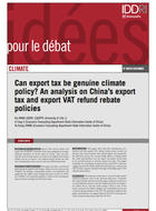 Can export tax be genuine climate policy?