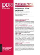 Gouvernance locale de l'énergie: clarification des enjeux et illustration par la planification territoriale