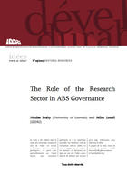 The role of the research sector in ABS governance