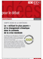 """Conference proceedings: """"The 'Bottom Billion' and Climate Change in the Context of the Global Crisis"""""""