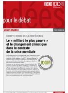 """Compte rendu de la conférence """"Le 'milliard le plus pauvre' et le changement climatique dans le contexte de la crise mondiale"""""""