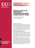 Exiting the crisis in the right direction: A sustainable and shared prosperity plan for Europe