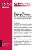 Ville et énergie: quels enjeux communs?