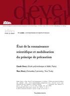 Etat de la connaissance scientifique et mobilisation du principe de précaution