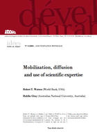 Mobilization, diffusion and use of scientific expertise