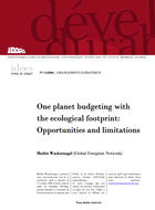 One planet budgeting with the ecological footprint: opportunities and limitations