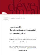 Issues raised by the international environmental governance system