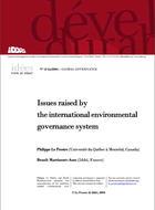 Les questions soulevées par le système de gouvernance internationale de l'environnement