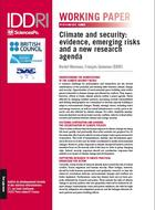Climate and security: evidence, emerging risks and a new research agenda