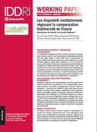 Les dispositifs institutionnels régissant la compensation biodiversité en France: gouvernance de marché ou accords bilatéraux?