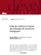 Code de conduite et équité des échanges de ressources biologiques