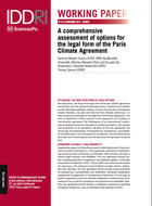 A comprehensive assessment of options for the legal form of the Paris Climate Agreement
