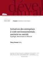 Initiatives des entreprises à visée environnementale, sanitaire ou sociale