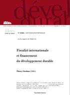 Fiscalité internationale et financement du développement durable