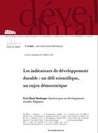 Les indicateurs de développement durable : un défi scientifique, un enjeu démocratique