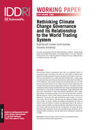 Rethinking Climate Change Governance and its Relationship to the World Trading System