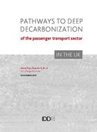 Pathways to deep decarbonization of the passenger transport sector in the UK