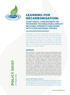 Learning for decarbonization