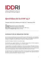 Quel bilan de la COP 25 ? Retour sur la conférence du 17 décembre 2019